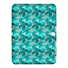 Aquamarine Geometric Triangles Pattern Samsung Galaxy Tab 4 (10.1 ) Hardshell Case