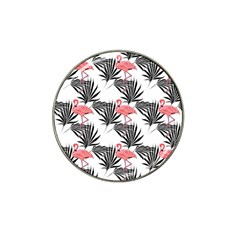 Flamingos Palmetto Fronds Tropical Pattern Hat Clip Ball Marker (10 pack)