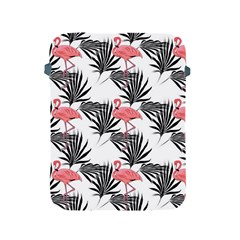 Flamingos Palmetto Fronds Tropical Pattern Apple iPad 2/3/4 Protective Soft Cases