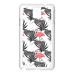 Flamingos Palmetto Fronds Tropical Pattern Samsung Galaxy Note 3 N9005 Case (White)