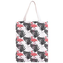 Flamingos Palmetto Fronds Tropical Pattern Classic Light Tote Bag