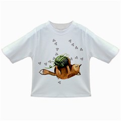 Lovely Cat Playing A Ball Of Wool Infant/Toddler T-Shirts