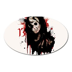 Momma s Boy 13 Oval Magnet