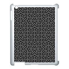 Black and White Ethnic Sharp Geometric  Apple iPad 3/4 Case (White)