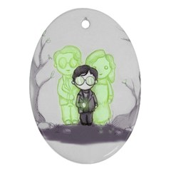 Sorcerer s Stone  Oval Ornament (Two Sides)