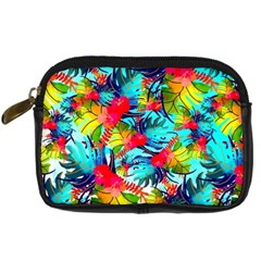Watercolor Tropical Leaves Pattern Digital Camera Cases