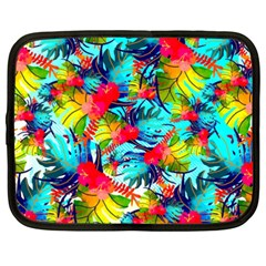 Watercolor Tropical Leaves Pattern Netbook Case (XXL)