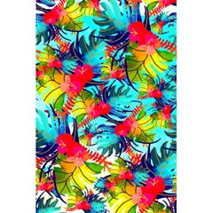 Watercolor Tropical Leaves Pattern 5.5  x 8.5  Notebooks