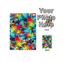 Watercolor Tropical Leaves Pattern Playing Cards 54 (Mini)