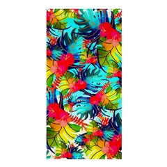 Watercolor Tropical Leaves Pattern Shower Curtain 36  x 72  (Stall)