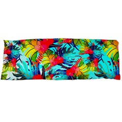 Watercolor Tropical Leaves Pattern Body Pillow Case (Dakimakura)