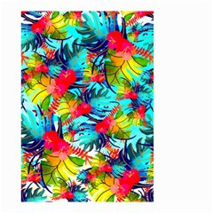 Watercolor Tropical Leaves Pattern Small Garden Flag (Two Sides)