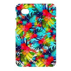 Watercolor Tropical Leaves Pattern Samsung Galaxy Tab 7  P1000 Hardshell Case