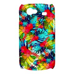 Watercolor Tropical Leaves Pattern Samsung Galaxy Nexus S i9020 Hardshell Case