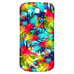 Watercolor Tropical Leaves Pattern Samsung Galaxy S3 S III Classic Hardshell Back Case