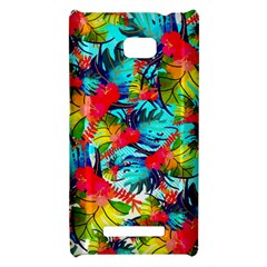 Watercolor Tropical Leaves Pattern HTC 8X