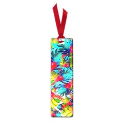 Watercolor Tropical Leaves Pattern Small Book Marks