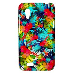 Watercolor Tropical Leaves Pattern HTC Desire VT (T328T) Hardshell Case