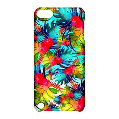 Watercolor Tropical Leaves Pattern Apple iPod Touch 5 Hardshell Case with Stand