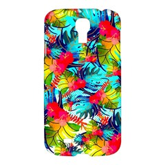 Watercolor Tropical Leaves Pattern Samsung Galaxy S4 I9500/I9505 Hardshell Case