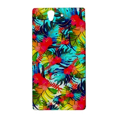 Watercolor Tropical Leaves Pattern Sony Xperia Z