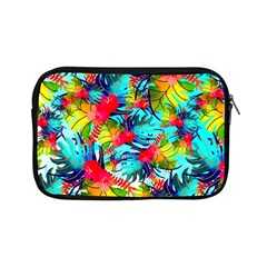 Watercolor Tropical Leaves Pattern Apple iPad Mini Zipper Cases
