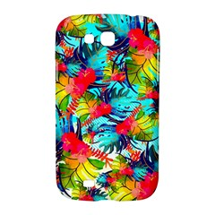 Watercolor Tropical Leaves Pattern Samsung Galaxy Grand GT-I9128 Hardshell Case
