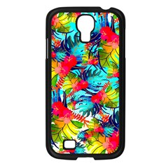 Watercolor Tropical Leaves Pattern Samsung Galaxy S4 I9500/ I9505 Case (Black)