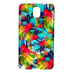 Watercolor Tropical Leaves Pattern Samsung Galaxy Note 3 N9005 Hardshell Case