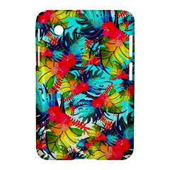 Watercolor Tropical Leaves Pattern Samsung Galaxy Tab 2 (7 ) P3100 Hardshell Case