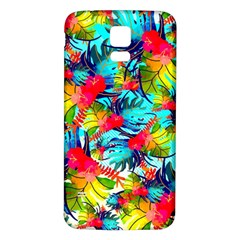 Watercolor Tropical Leaves Pattern Samsung Galaxy S5 Back Case (White)