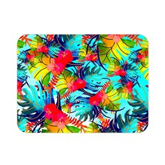 Watercolor Tropical Leaves Pattern Double Sided Flano Blanket (Mini)