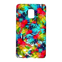 Watercolor Tropical Leaves Pattern Galaxy Note Edge