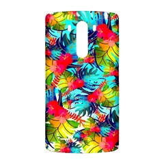 Watercolor Tropical Leaves Pattern LG G3 Back Case