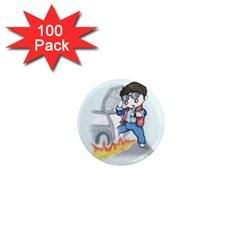 Back To The Plushie Future 1  Mini Magnets (100 pack)