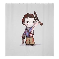 Plushie Boomstick Shower Curtain 66  x 72  (Large)
