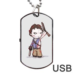 Plushie Boomstick Dog Tag USB Flash (Two Sides)