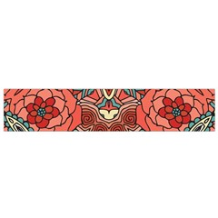 Petals, Pale Rose, Bold Flower Design Flano Scarf (Small)