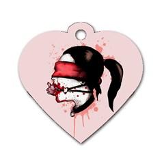 Cardio Masochist  Dog Tag Heart (Two Sides)