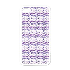 Floral Stripes Pattern Apple iPhone 4 Case (White)
