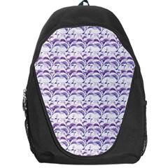Floral Stripes Pattern Backpack Bag