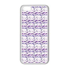 Floral Stripes Pattern Apple iPhone 5C Seamless Case (White)