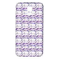 Floral Stripes Pattern Samsung Galaxy S5 Back Case (white)