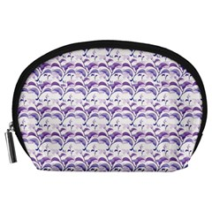 Floral Stripes Pattern Accessory Pouches (Large)
