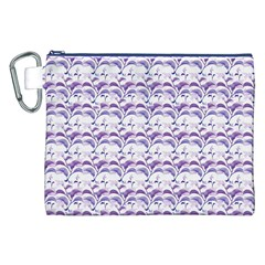 Floral Stripes Pattern Canvas Cosmetic Bag (XXL)