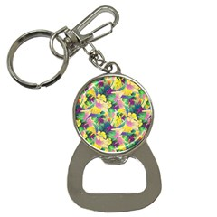 Tropical Flowers And Leaves Background Bottle Opener Key Chains