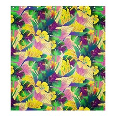 Tropical Flowers And Leaves Background Shower Curtain 66  x 72  (Large)