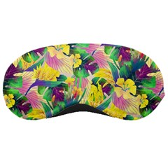 Tropical Flowers And Leaves Background Sleeping Masks