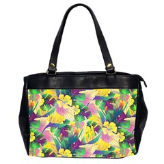 Tropical Flowers And Leaves Background Office Handbags (2 Sides)
