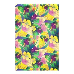 Tropical Flowers And Leaves Background Shower Curtain 48  x 72  (Small)